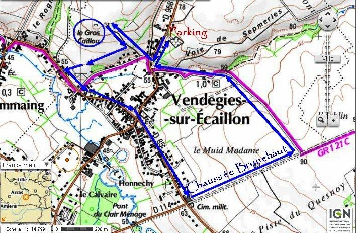 Vendegies Circuit du Menhir et de la chaussée Brunehaut