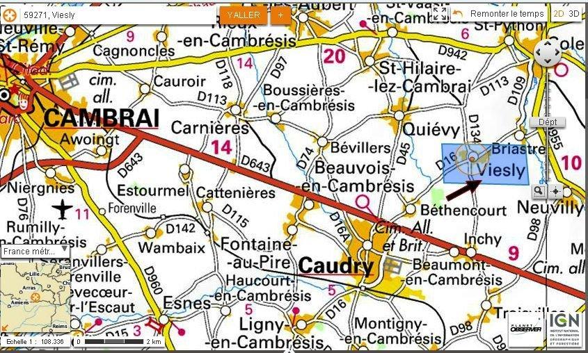 Localisation de Viesly