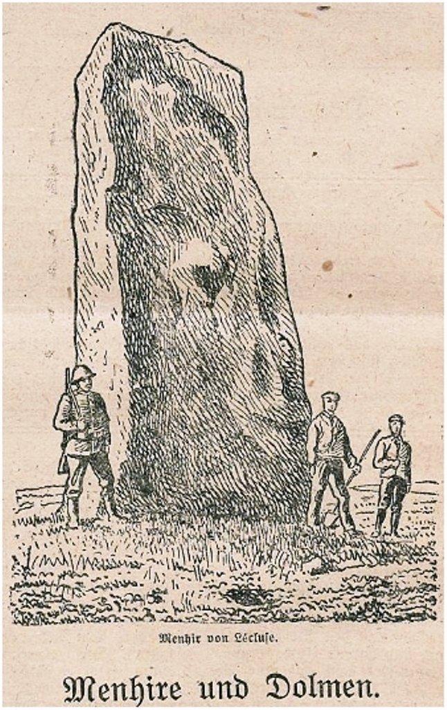 Menhire und Dolmen